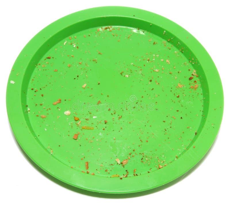 crumbs πιάτο στοκ εικόνα με δικαίωμα ελεύθερης χρήσης