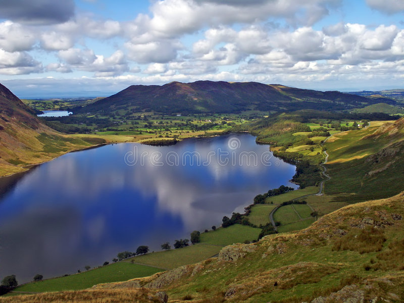 Crummock Water. Looking over Crummock Water in the English Lake District stock photos