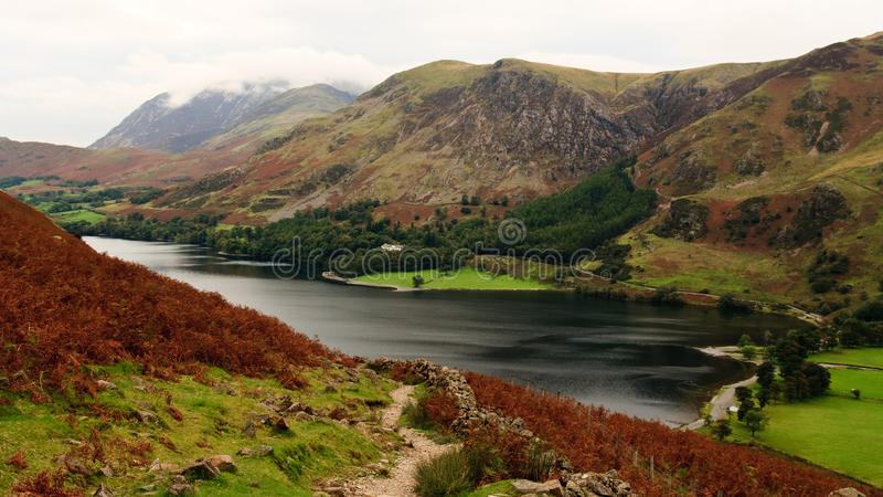 Crummock Water, Buttermere, Lake District royalty free stock photo