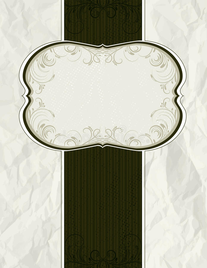 Crumple classical background stock illustration