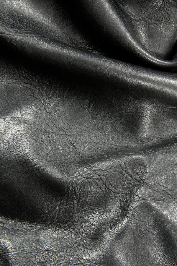 Download Crumpled Black Leather Texture Royalty Free Stock Photos - Image: 16343678