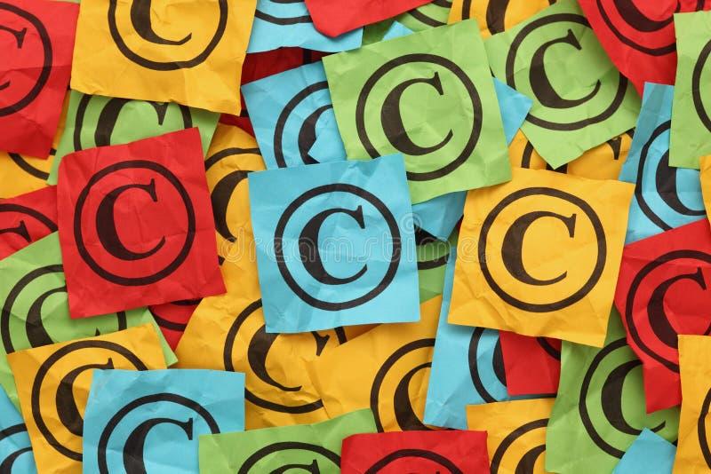 Crumpled Copyright stock image