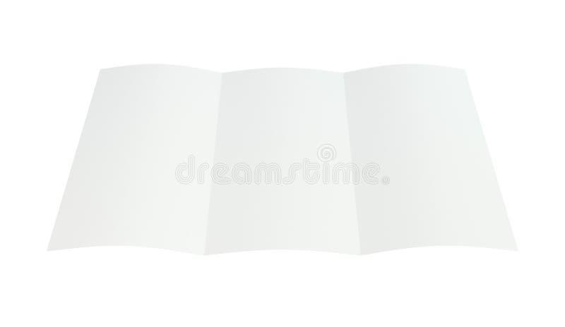 Crumpled dobrou o papel A4 rendição 3d ilustração royalty free