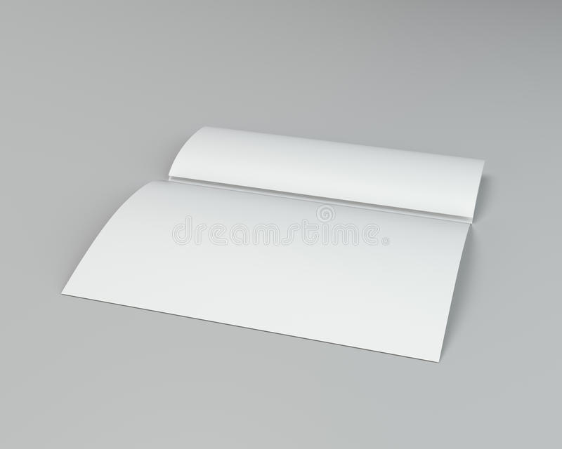 Crumpled dobrou o papel A4 rendição 3d no fundo cinzento ilustração do vetor