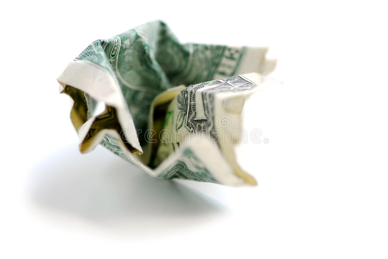 Download Crumpled dollar bill stock image. Image of change, extreme - 1148353