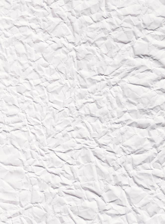 Crumpled enrugou a textura do Livro Branco ilustração royalty free