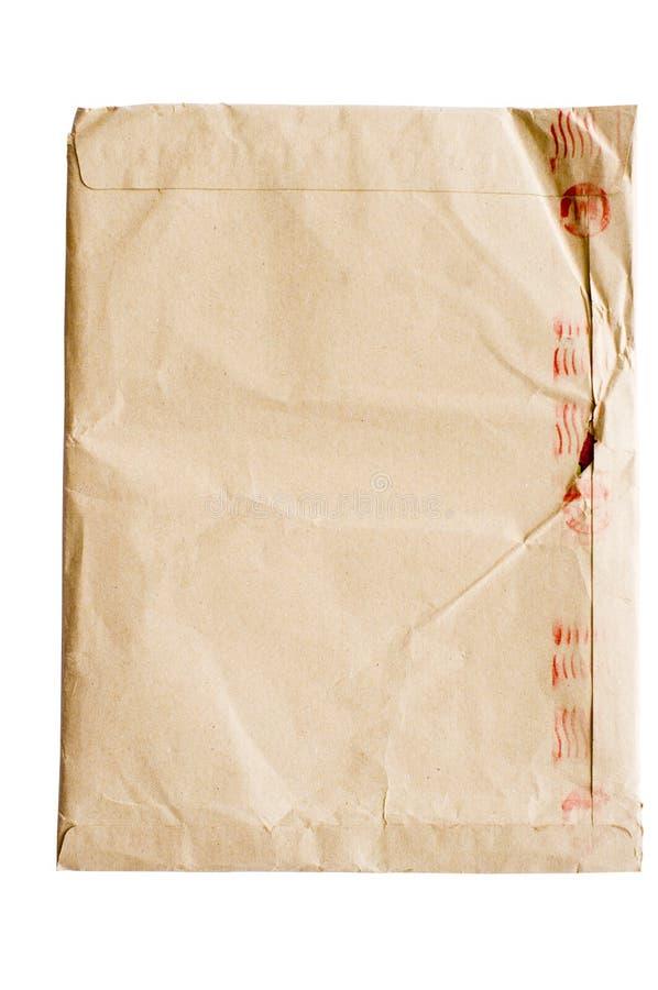 Crumpled envelope stock photography