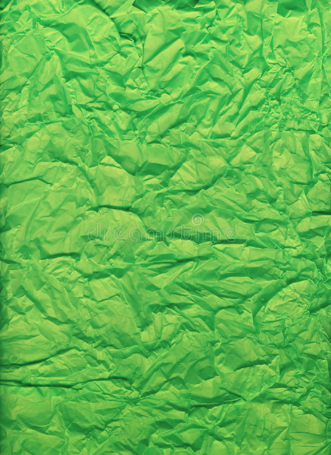 Download Crumpled And Folded Bright Green Tissue Paper Stock Image - Image: 6966181