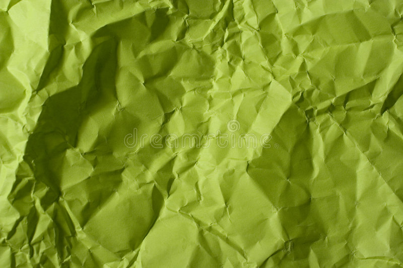Download Crumpled green paper stock image. Image of close, green - 5374351
