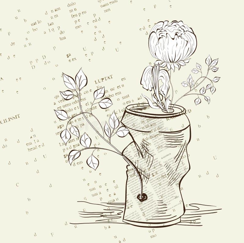 Crumpled jar