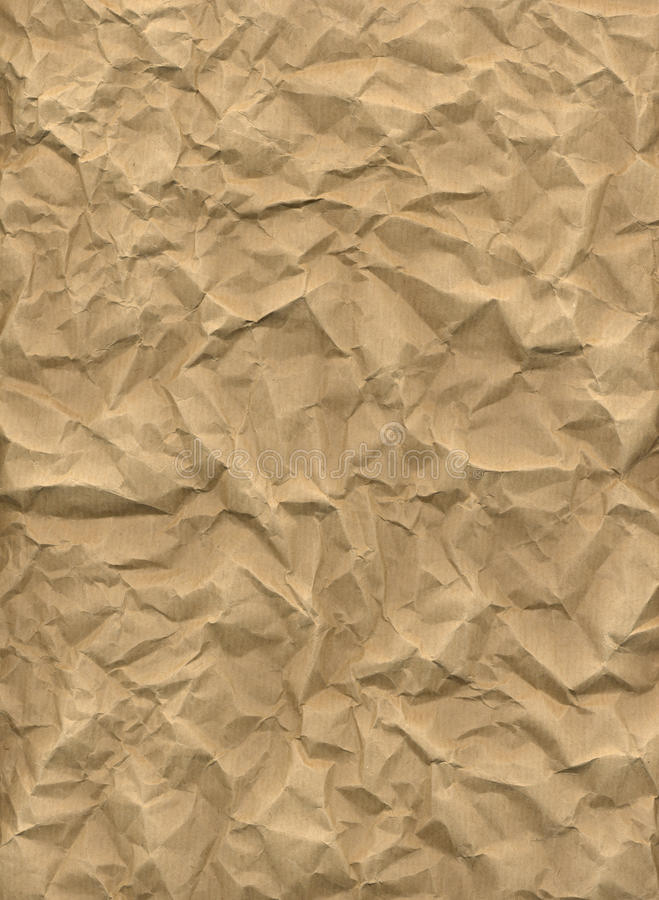 Download Crumpled Kraft Paper Stock Photo Image Of Brown Wrinkled