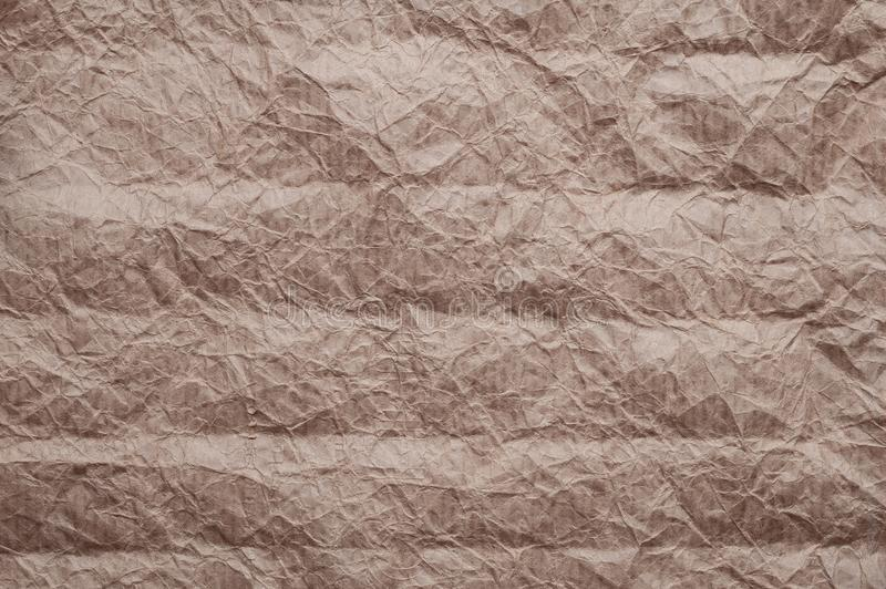 Crumpled kraft paper. Texture crumpled recycled old brown paper stock images