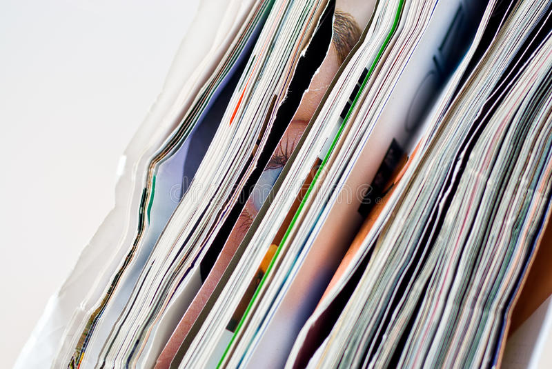 Crumpled magazines royalty free stock images