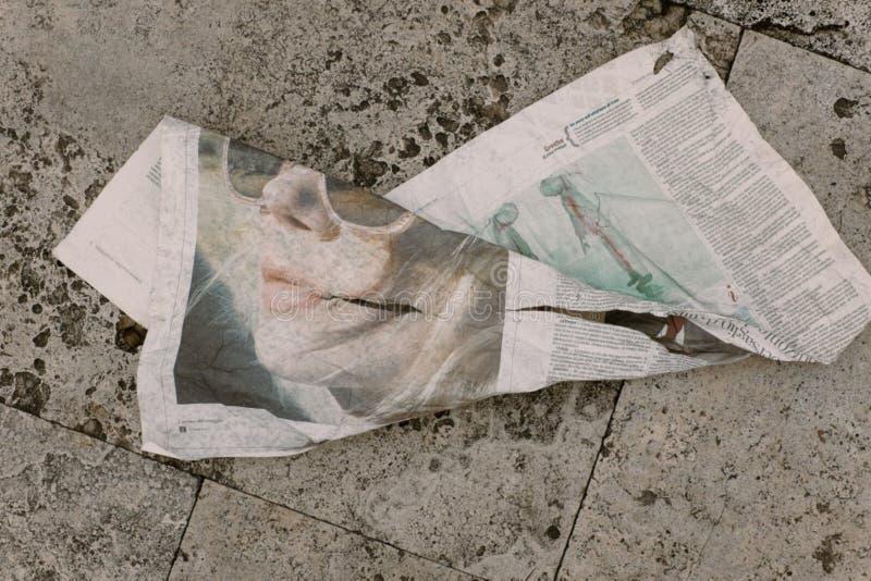Crumpled Newspaper Free Public Domain Cc0 Image