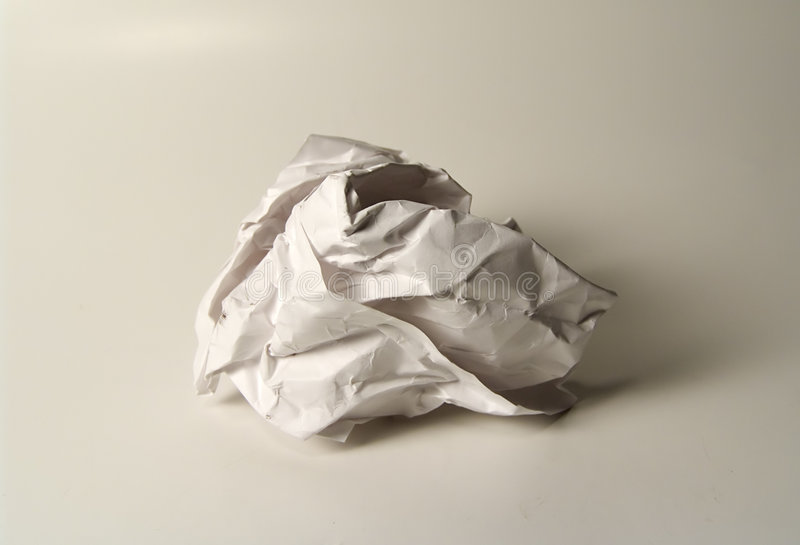 Download Crumpled Paper stock photo. Image of white, office, anger - 12620