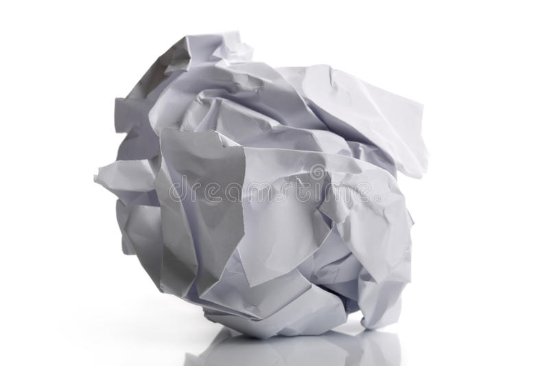 Download Crumpled paper stock photo. Image of page, blank, isolated - 19129912