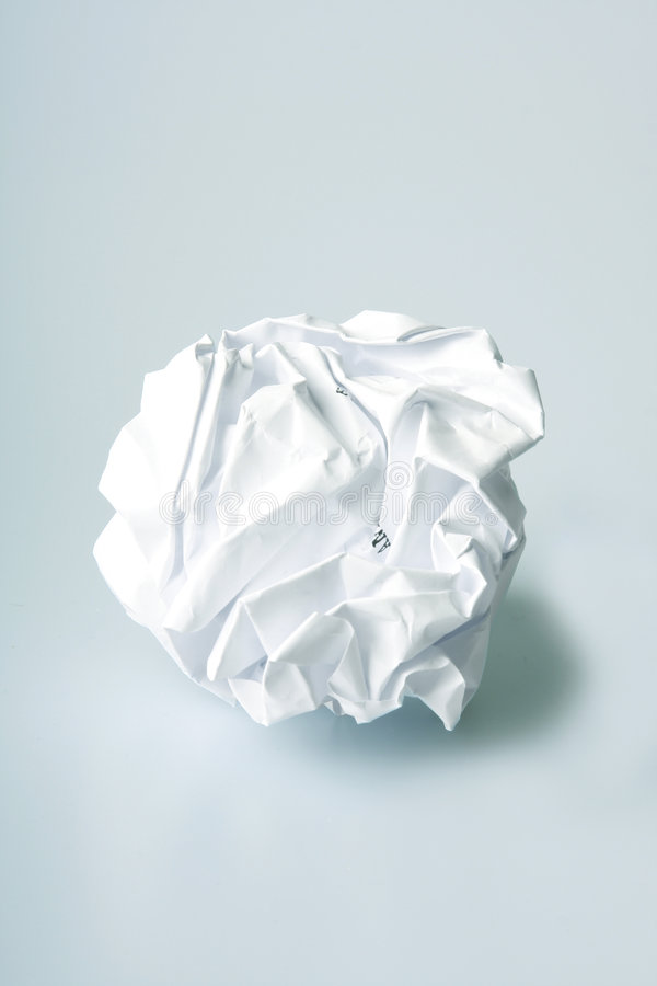 Download Crumpled paper stock photo. Image of document, brainstorm - 3819128