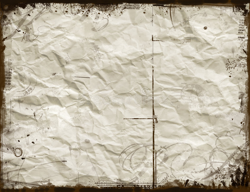 Crumpled paper stock illustration