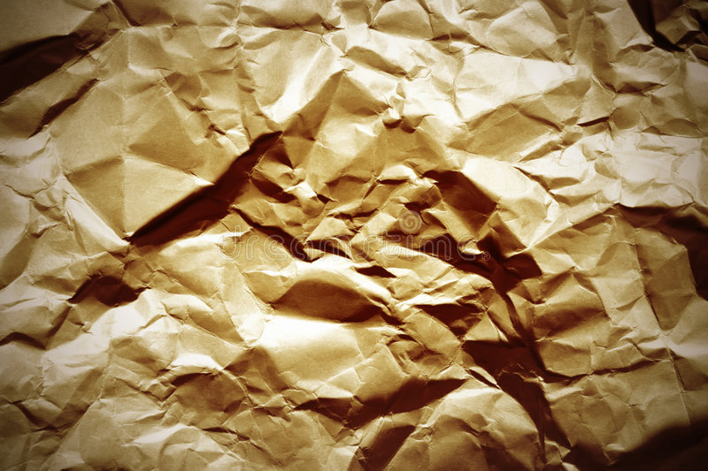 Crumpled paper. Empty crumpled paper close up stock image