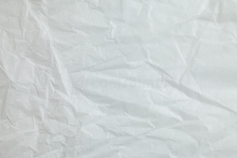 Crumpled paper background. Crumpled white paper a background stock illustration