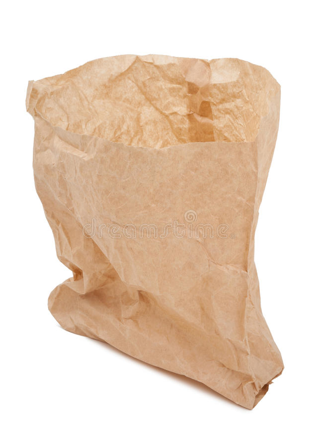 Crumpled paper bag royalty free stock image