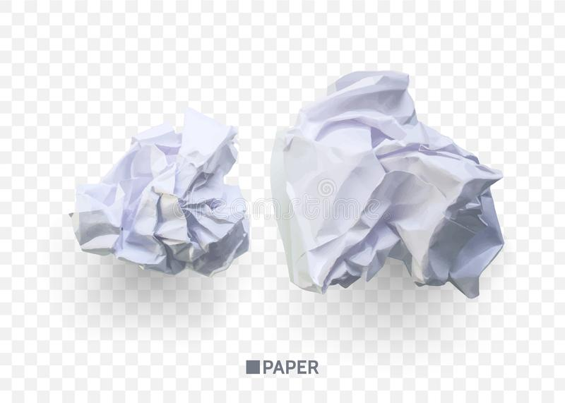 Crumpled paper ball. isolated on transparent background. vector illustration for businnes concept, banner, web site and. Other.vector royalty free illustration