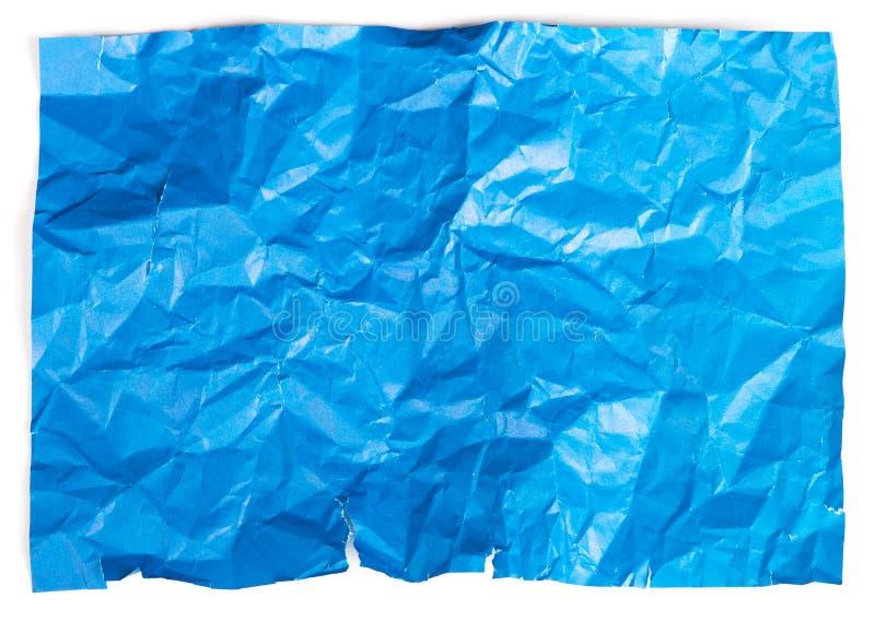 Crumpled paper stock image