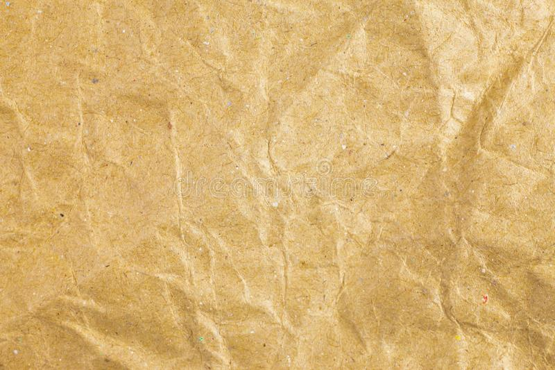 Crumpled paper texture background. Abstract, aged, antique, backgrounds, bag, blank, brown, bumpy, canvas, cardboard, close, closeup, color, copy, crease stock photography