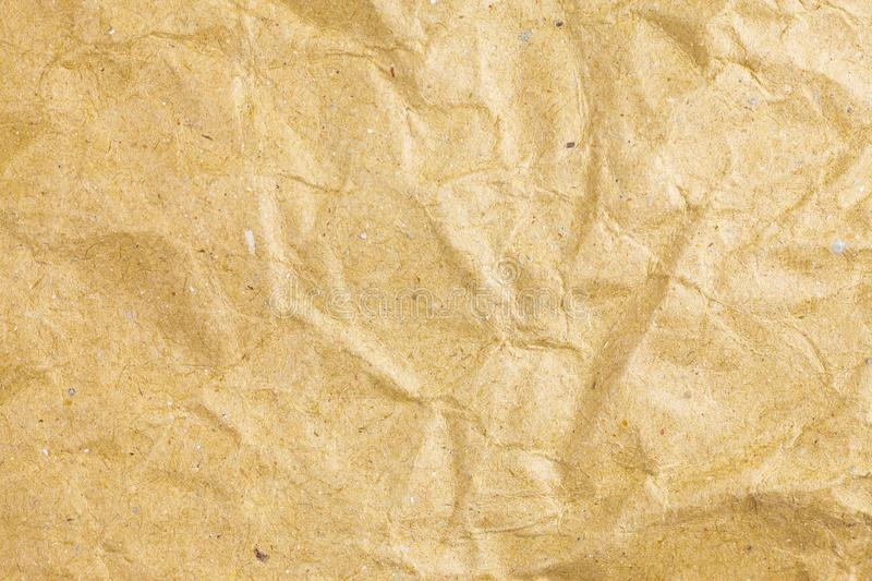 Crumpled paper texture background. Abstract, aged, antique, backgrounds, bag, blank, brown, bumpy, canvas, cardboard, close, closeup, color, copy, crease royalty free stock photos
