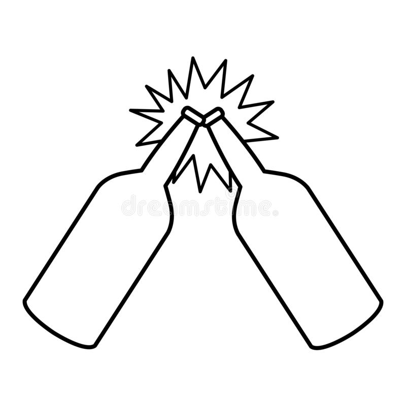 Crumpled pode desenhos animados do ícone isolou preto e branco ilustração royalty free