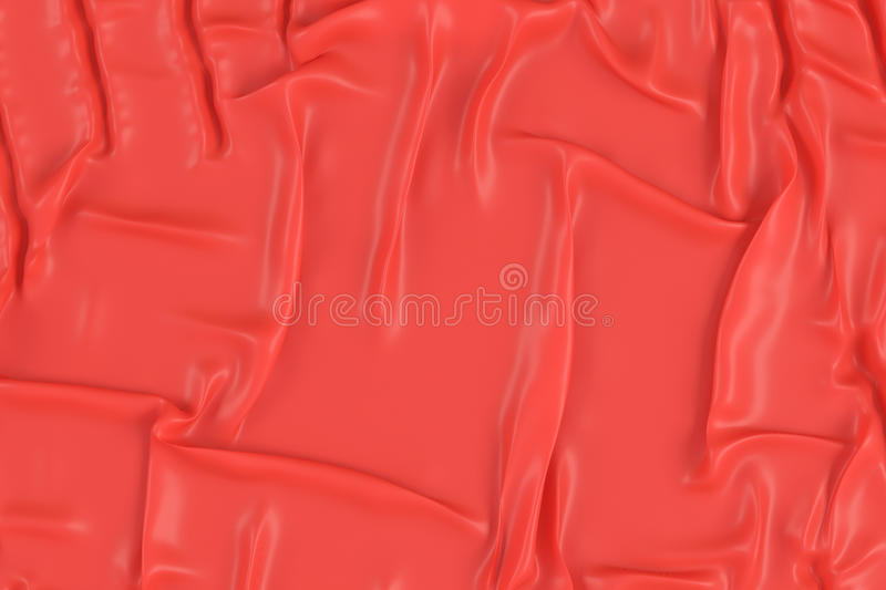 Crumpled red fabric texture stock illustration