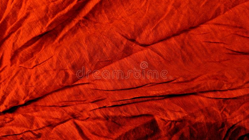 Crumpled red fabrics stock illustration