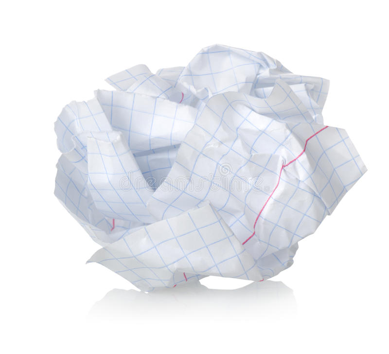 Crumpled Sheet Of Paper Royalty Free Stock Photo