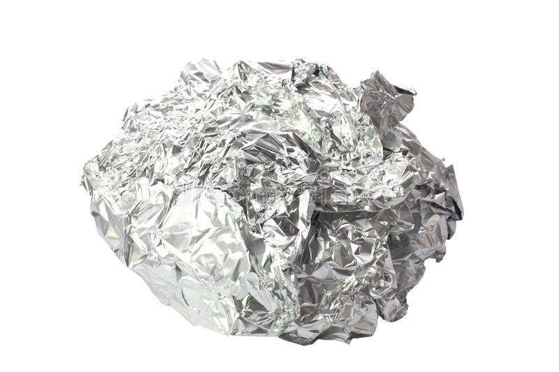 Download Crumpled Tin Foil Isolated Stock Photos - Image: 28944503