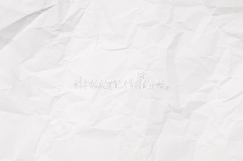 Crumpled white paper background royalty free stock photos