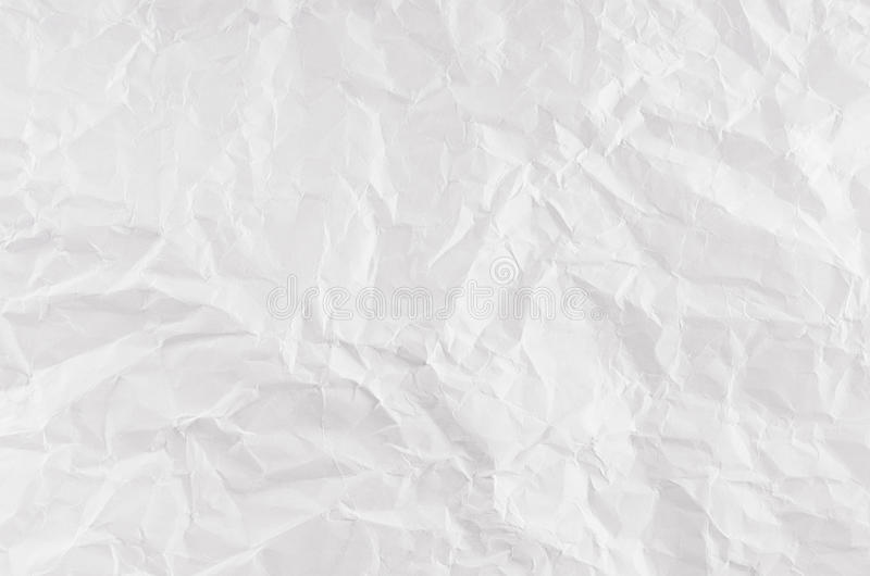 Crumpled white paper texture. royalty free stock images