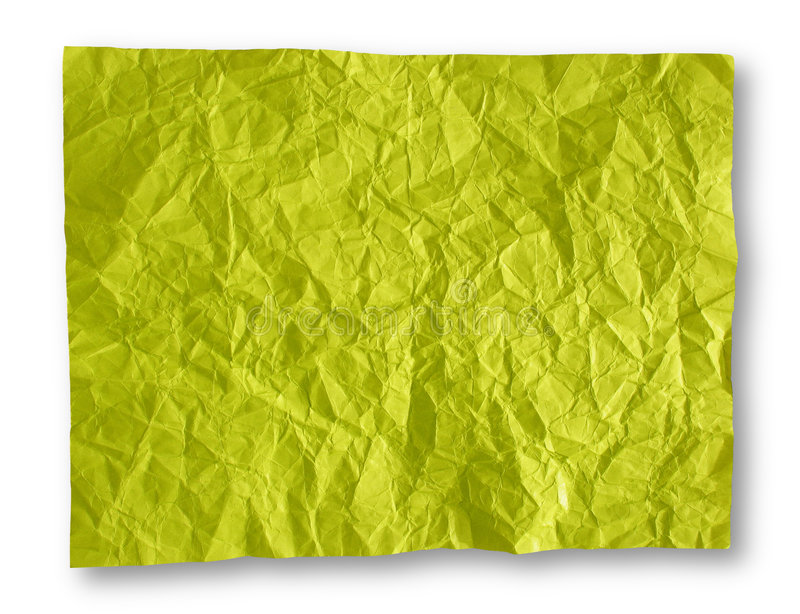 Download Crumpled Yellow-Green Paper Background Stock Photo - Image of background, beat: 1705436