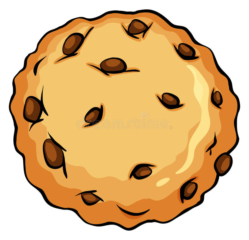 Crunchy brown cookie. On a white background royalty free illustration