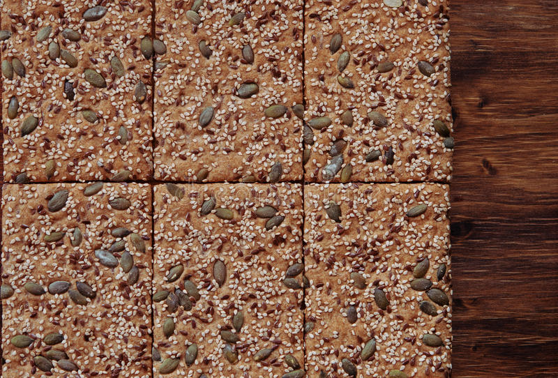 Download Crunchy Crispbread  Background Stock Photo - Image: 99210554
