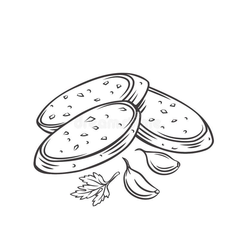 Garlic Bread Stock Illustrations 1 393 Garlic Bread Stock Illustrations Vectors Clipart Dreamstime