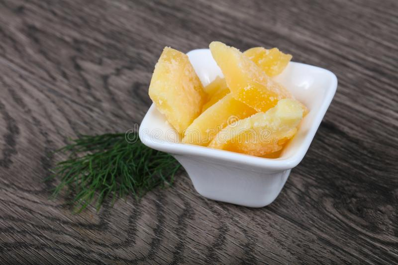 Crunchy parmesan cheese royalty free stock images