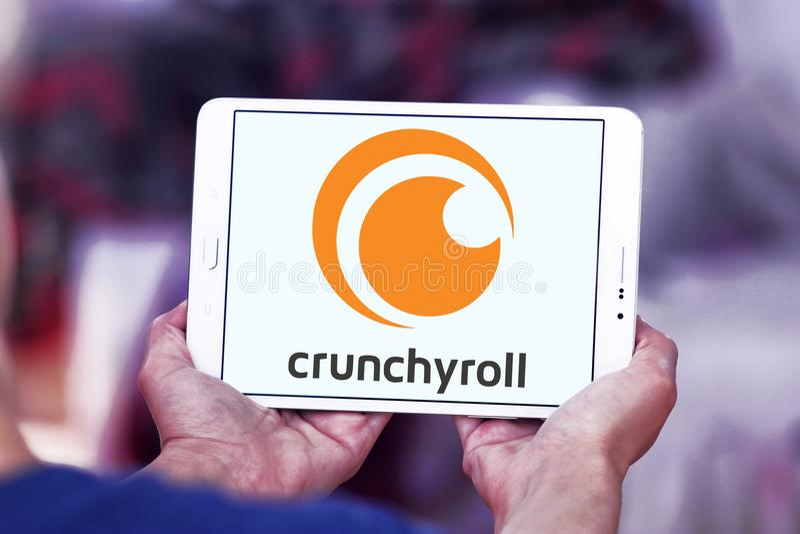 Crunchyroll wideo leje się usługowego loga fotografia royalty free