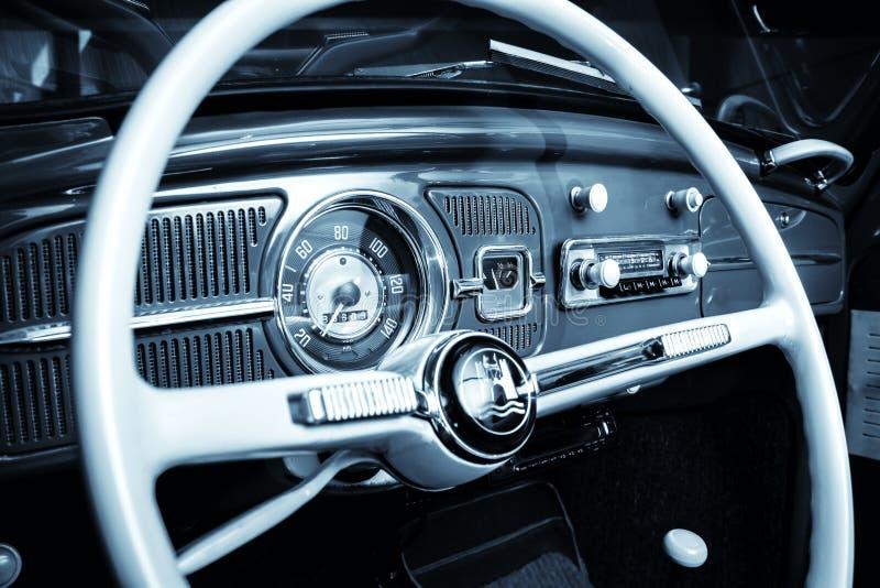 Cruscotto di Volkswagen Beetle fotografia stock