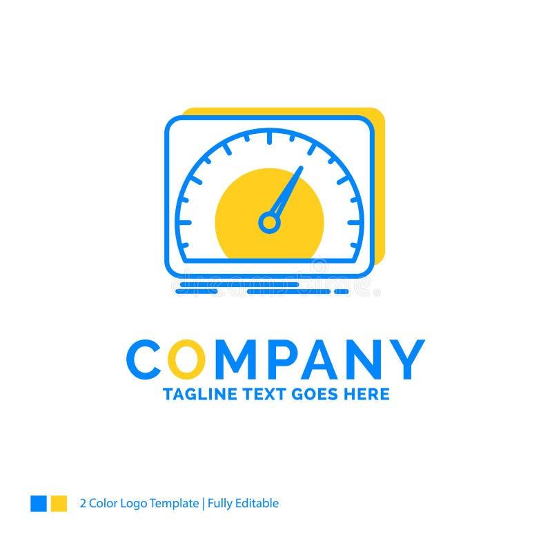 cruscotto, dispositivo, velocità, prova, affare giallo blu Lo di Internet royalty illustrazione gratis