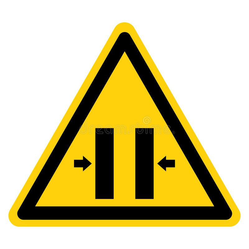 Free Crush Hazard Closing Mold Symbol Sign Isolate On White Background,Vector Illustration Royalty Free Stock Images - 149384089