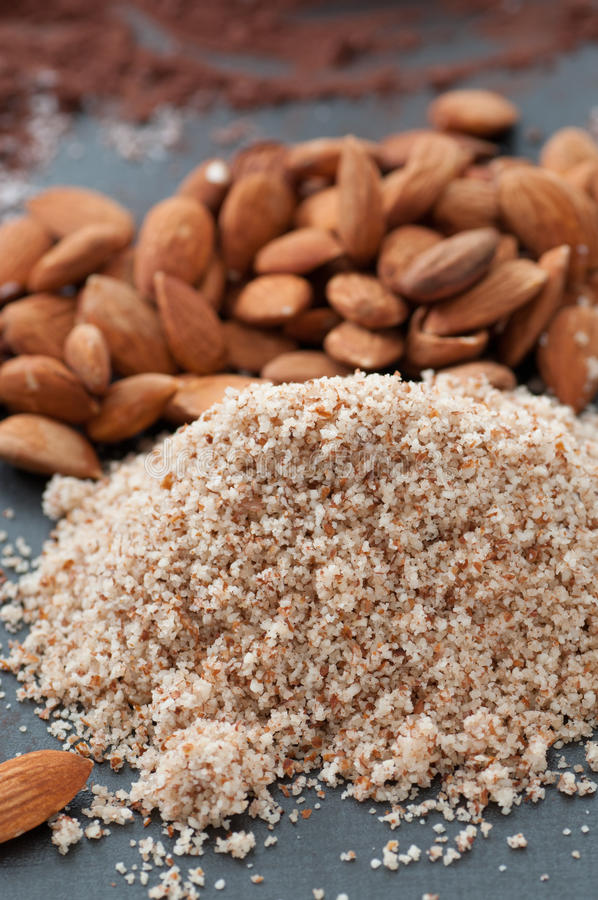 Download Crushed Almonds stock image. Image of mixed, ingredients - 26929461