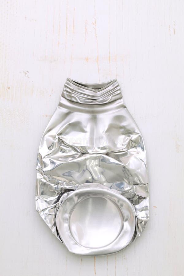 Download Crushed aluminum bottle stock image. Image of junkyard - 25683077
