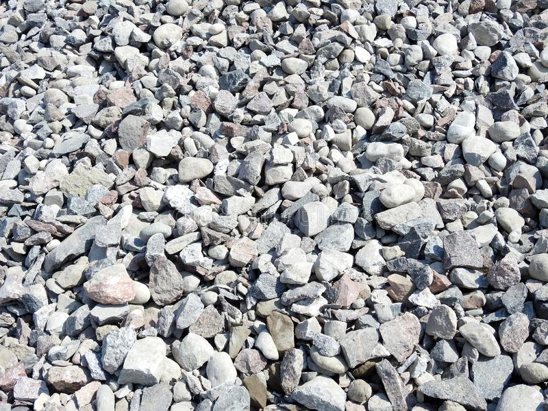 Crushed different shape stones, Lithuania royalty free stock photos