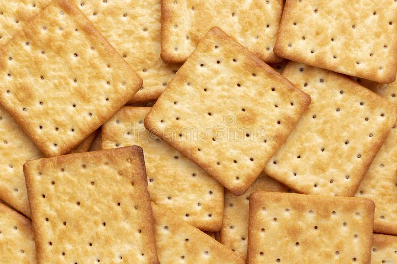 Crushed dry cracker cookies isolated on white background.  royalty free stock photo