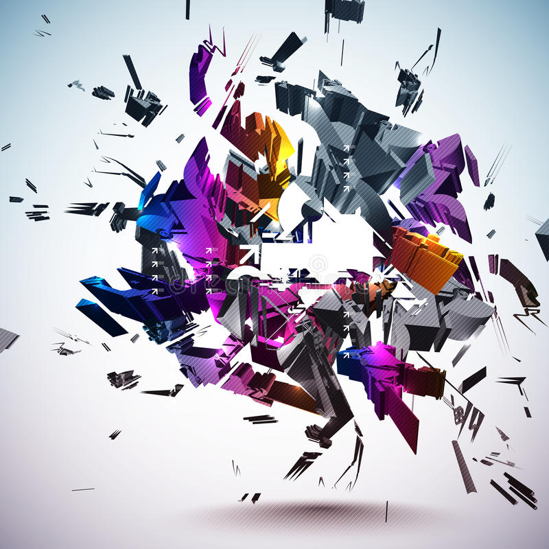 Crushed Element. Vector file available in EPS10 format vector illustration